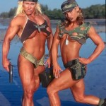 MUSCLE PINUPS' . . . WOMEN IN UNIFORM