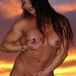 MUSCLE DIVA DENISE MASINO ILLUMINATES THE DESERT SKY