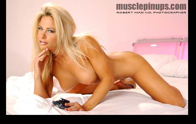 The sultry blonde adult star and fitness model made the most of her appearance in Muscle PinUps . . . she's been voted Top Rated Model by the fans