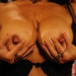 FAMILY JEWELS AND HUGE NIPPLES : DENISE MASINO IS THE HOT MUSCLE CLIPS FEATURE HD VIDEO