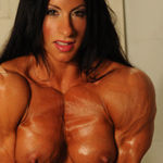 Angela Salvagno Arm Workout Fucks Dildo