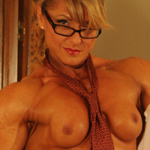 Your Boss is Female Bodybuilder Emery Miller Nude
