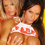 Horny Muscle Girls 1 – Scene 5 – Kim Stahl and Rhonda Lee