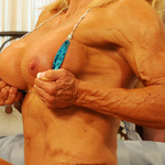Alana Snow – Ripped Muscle Posing in the Bedroom