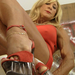 Alana Snow – Red Hot Mini Skirt Flexing and Interview
