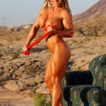 Blonde bombshell Melissa Dettwiller heats up the Nevada desert.
