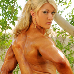 Lisa Cross and Her Dildo in Muscle Park