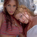 Island Heat – Three Naked Muscle Babes on the Beach – Mimi, Peggy and Christy