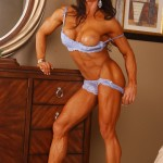 Luscious I.F.B.B. Pro Angela Salvagno during a recent Muscle PinUps photo shoot.