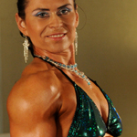 Lada Plihalova – muscle flexing