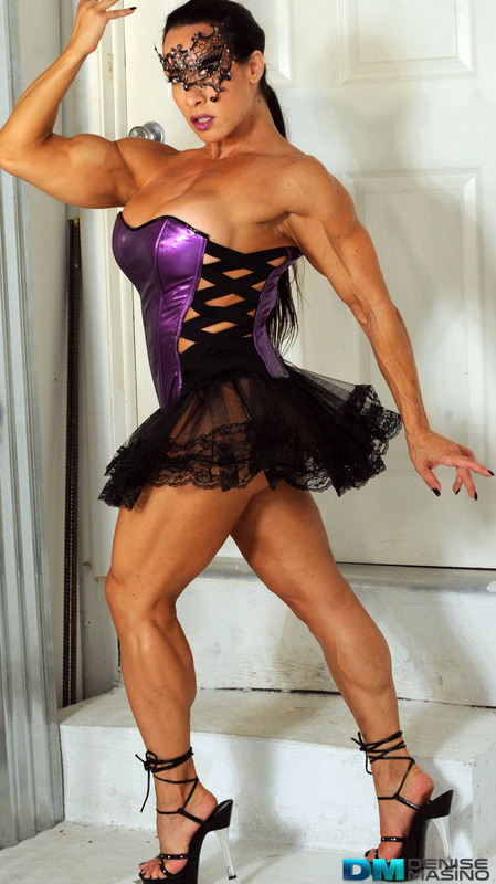 Denise Masino's videos are a world of unique muscular beauty.