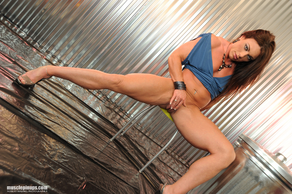 Muscle PinUps model Kim Birtch.