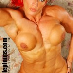 I.F.B.B. Pro Nicole Savage stars in the Muscle PinUps video production BOOT CAMP.