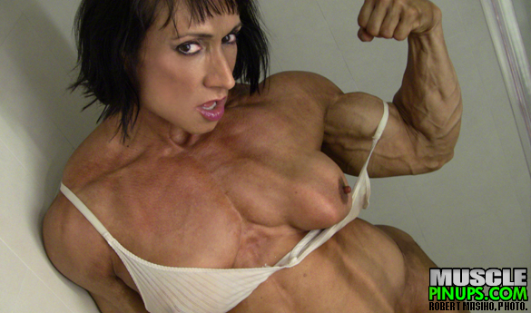 AN HOUR IN THE SHOWER WITH MUSCLE BARBIE, MEGAN AVALON